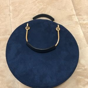 Royal blue round purse